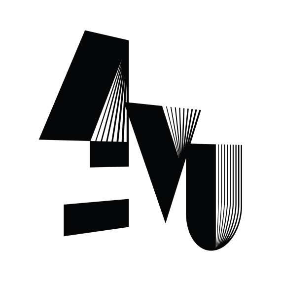 4vu logo k skew